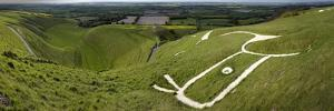 The Uffington Bronze Age White Horse Wide by Paul Stewart