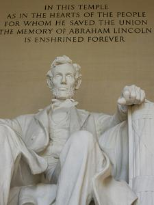 A Statue of President Abraham Lincoln at the Lincoln Memorial by Paul Sutherland