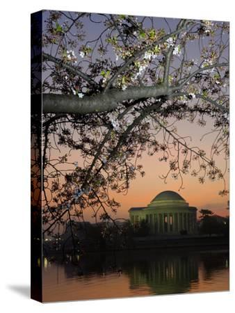 The Jefferson Memorial and Reflection on the Tidal Basin, at Dawn