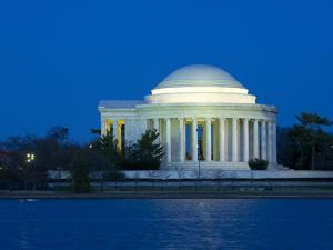 The Jefferson Memorial and Tidal Basin in Early Evening by Paul Sutherland