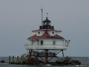 Thomas Point Shoal Lighthouse in the Chesapeake Bay by Paul Sutherland