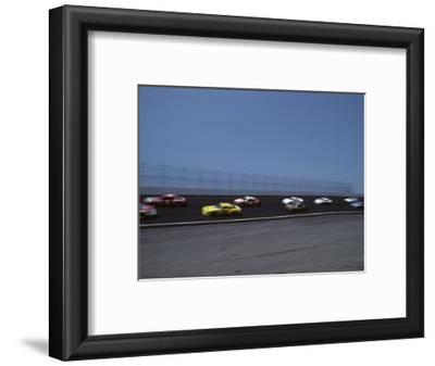 Blured Action of Auto Race, Charlotte, North Carolina, USA