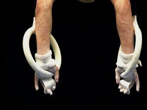 Detail of Male Gymnasts Hands on the Rings by Paul Sutton
