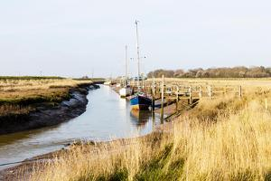 Gibraltar Point Inlet Coastal Estuary Boats Yachts Skegness Lincolnshire UK England by Paul Thompson