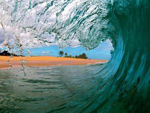 Beachbreak Tube - Hawaiian Breaking Wave - Hawaii by Paul Topp