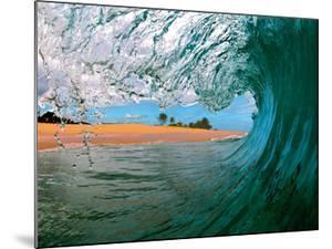 Beachbreak Tube - Hawaiian Breaking Wave - Hawaii by Paul Topp