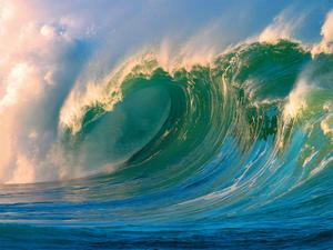 Morning Light Hawaii - Big Surf - Breaking Wave by Paul Topp