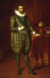 A Portrait of James I of England and VI of Scotland by Paul van Somer
