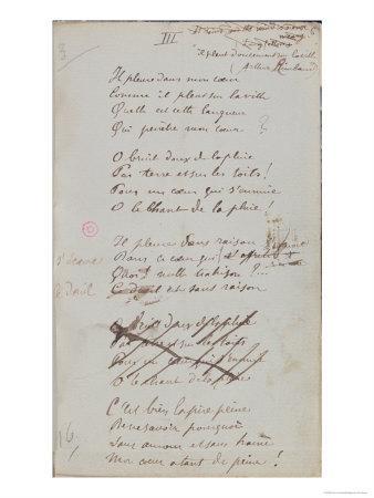 Il Pleure Dans Mon Coeur, Comme Il Pleut Sur La Ville, Romances Sans Paroles, c.1873