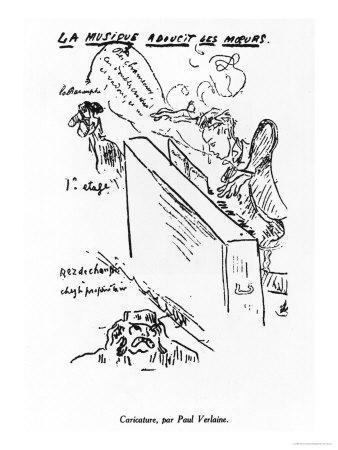 La Musique Adoucit Les Moeurs, Arthur Rimbaud (1854-91) Playing Piano