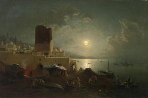 View of the Maiden Tower in Baku by Paul von Franken