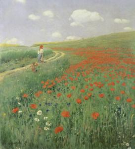 Summer Landscape with Poppy Field, 1902 by Paul von Szinyei-Merse