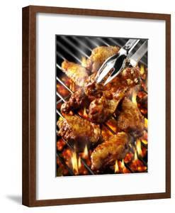 Chicken Wings on Barbecue Rack by Paul Williams