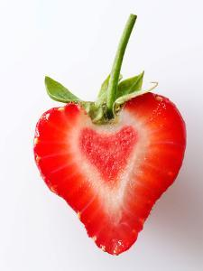 Heart Shaped Strawberry Half by Paul Williams