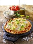 Tomato and Mozzarella Pizza with Basil-Paul Williams-Photographic Print
