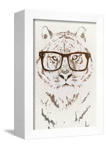 Hipster Tiger by Paula Belle Flores