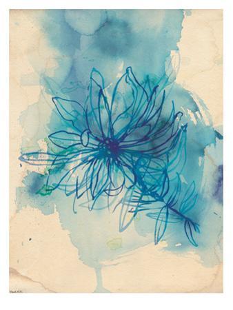 Blue Wash Wild Flower by Paula Mills
