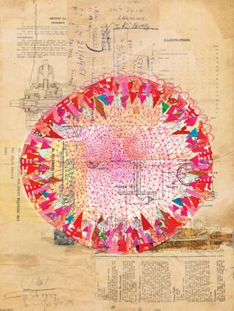 Circle Collage by Paula Mills