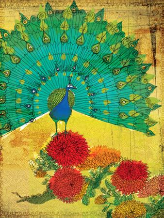Peacock Wooden by Paula Mills