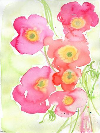 Pink Poppies by Paula Mills