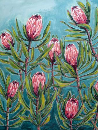 Pink Protea Painting by Paula Mills
