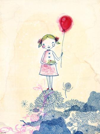 Red Baloon Girl by Paula Mills