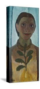 Self-Portrait with Camellia Twig, 1907 by Paula Modersohn-Becker