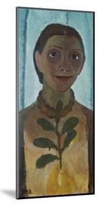 Self-Portrait with Camellia Twig, 1907 by Paula Modersohn-Becker