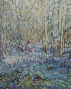 Painting Bluebells by Paula Nightingale