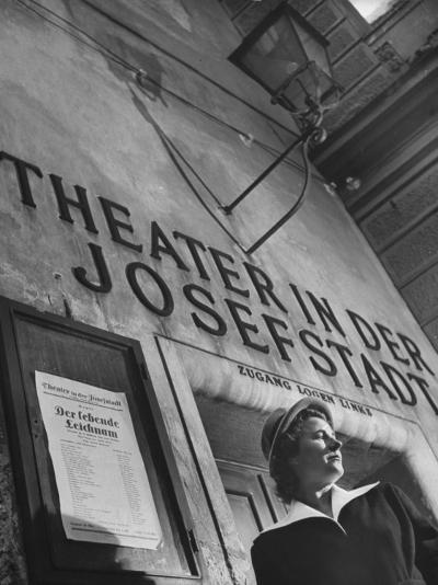 Paula Wessely Attending Theater Production at Theater in Der Josefstadt--Photographic Print
