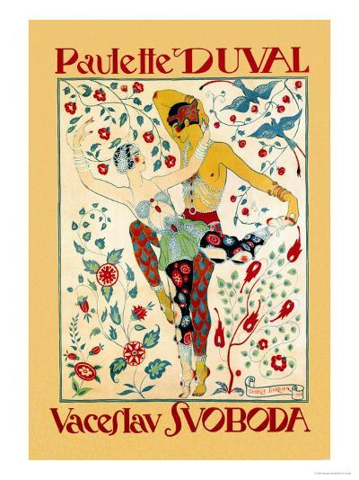 Paulette Duval and Vaceslv Svoboda Dance-Georges Barbier-Art Print