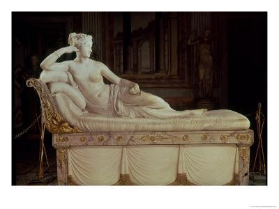 Paulina Bonaparte (1780-1825) as Venus Triumphant, circa 1805-08-Antonio Canova-Giclee Print