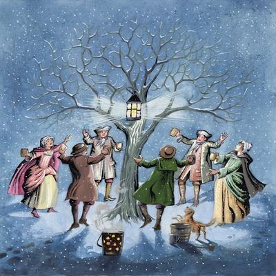 Wassailing the Apple Trees