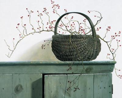 Wild Rose Berries, 1987 by Pauline Ebl? Campanelli