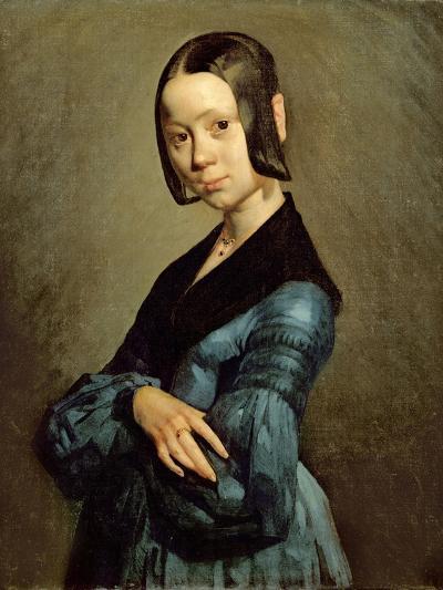 Pauline Ono (1821-44) in Blue, 1841-42-Jean-Fran?ois Millet-Giclee Print