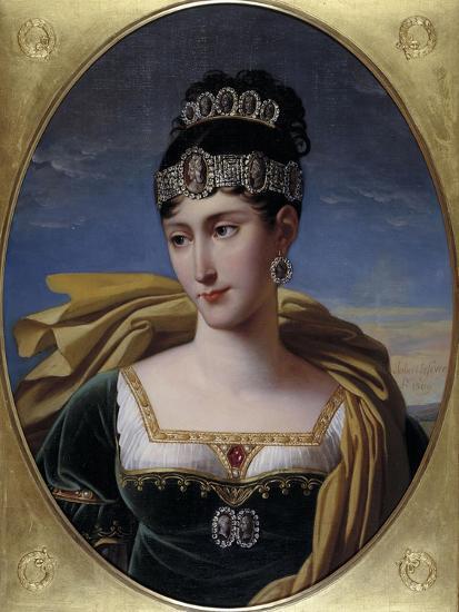 Pauline, Princess Borghese, c.1809-Robert Lefevre-Giclee Print