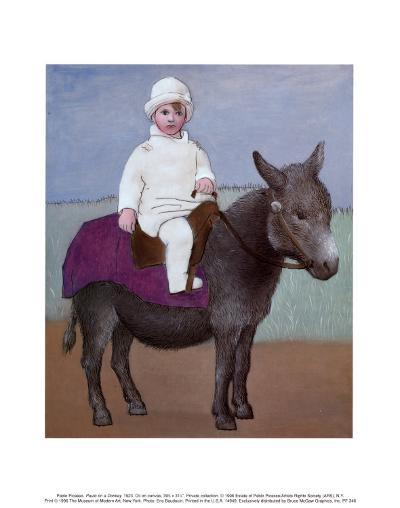 Paulo on a Donkey-Pablo Picasso-Art Print