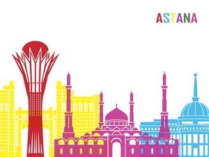 Astana Skyline Pop by paulrommer