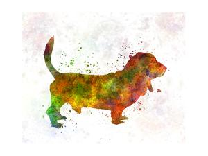 Basset Hound 01 in Watercolor by paulrommer