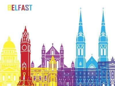 Belfast Skyline Pop by paulrommer