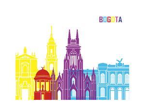Bogota Skyline Pop by paulrommer