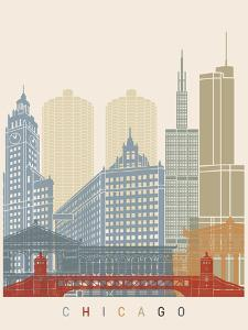 Chicago Skyline Poster by paulrommer