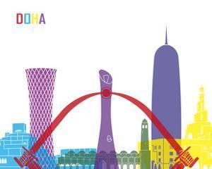 Doha Skyline Pop by paulrommer