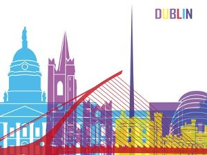 Dublin Skyline Pop by paulrommer