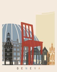 Geneva Skyline Poster by paulrommer