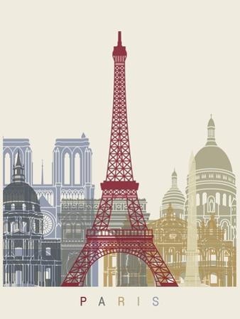 Paris Skyline Poster by paulrommer
