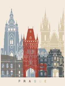 Prague Skyline Poster by paulrommer
