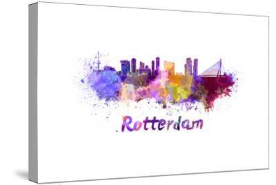 Rotterdam Skyline in Watercolor