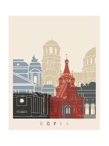 Sofia Skyline Poster by paulrommer