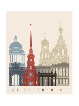 St Petersburg Skyline Poster by paulrommer